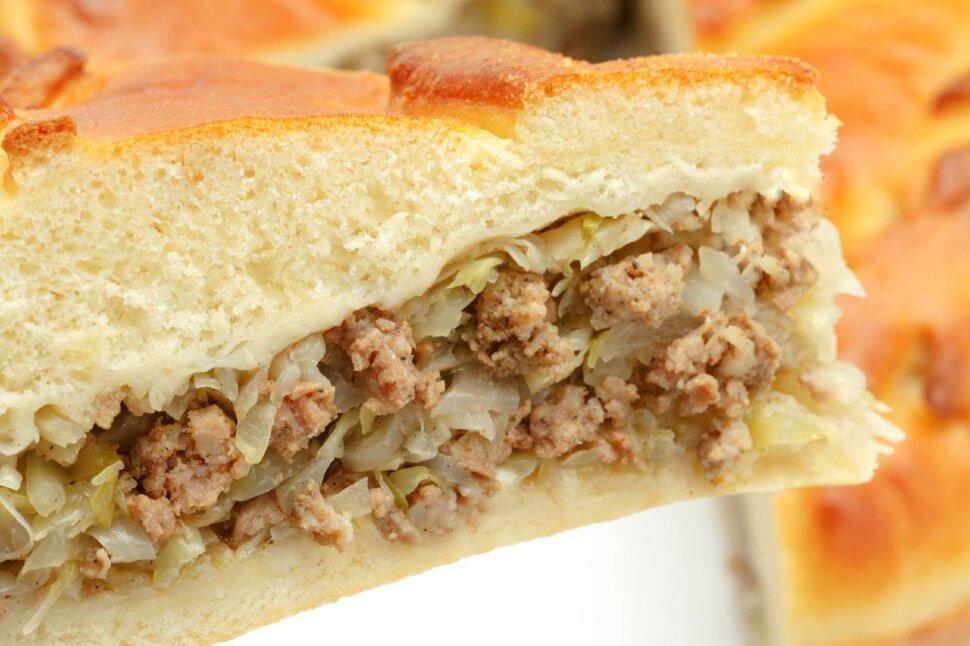 Пирог с говядиной и капустой.   Для наших пирогов мы выбираем фермерское мясо, произведенное российскими фермерами. В ..